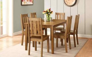 Bộ bàn ăn gỗ đẹp U28