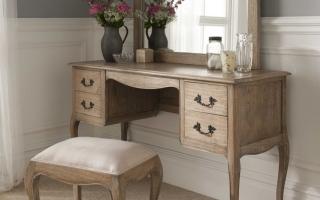 Mẫu bàn phấn trang điểm gỗ đẹp U26