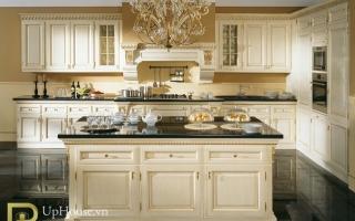 Mẫu tủ kệ bếp gỗ đẹp U1