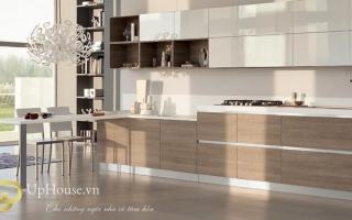 Mẫu tủ kệ bếp gỗ đẹp U12