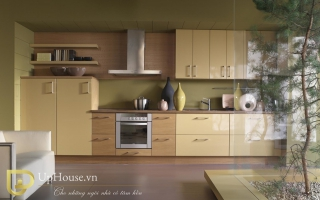 Mẫu tủ kệ bếp gỗ đẹp U14