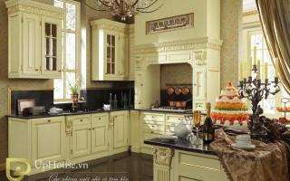 Mẫu tủ kệ bếp gỗ đẹp U2