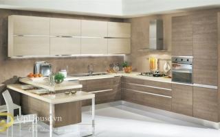 Mẫu tủ kệ bếp gỗ đẹp U20