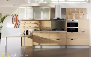 Mẫu tủ kệ bếp gỗ đẹp U28