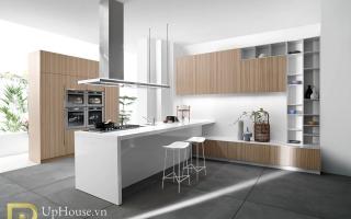 Mẫu tủ kệ bếp gỗ đẹp U29