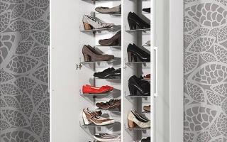 Mẫu tủ kệ giầy dép gỗ đẹp U14