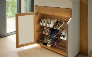 Mẫu tủ kệ giầy dép gỗ đẹp U6