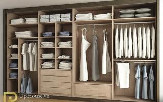 Mẫu tủ quần áo gỗ đẹp U2
