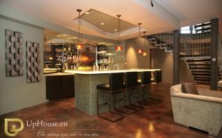 Mẫu tủ quầy bar gỗ đẹp U6