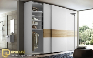 Mẫu tủ quần áo gỗ đẹp U43