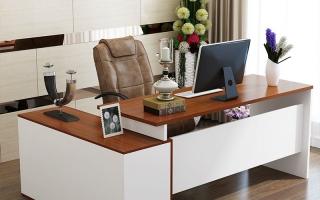 mẫu bàn làm việc văn phòng đẹp của giám đốc U35