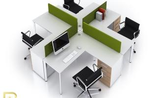 Mẫu bàn văn phòng đẹp U33