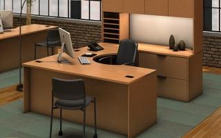 mẫu bàn làm việc văn phòng đẹp của giám đốc U28