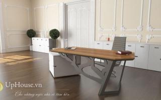 mẫu bàn làm việc văn phòng đẹp của giám đốc U5