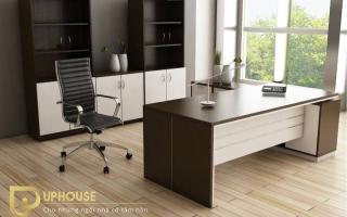 mẫu bàn làm việc văn phòng đẹp của giám đốc U3