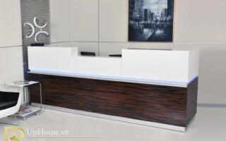 Mẫu bàn quầy lễ tân gỗ đẹp U12