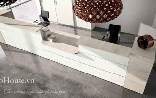 Mẫu bàn quầy lễ tân gỗ đẹp U30