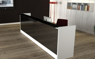 Mẫu bàn quầy lễ tân gỗ đẹp U51