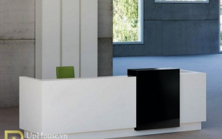 Mẫu bàn quầy lễ tân gỗ đẹp U57