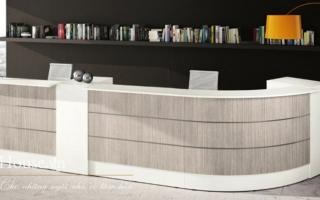 Mẫu bàn quầy lễ tân gỗ đẹp U65