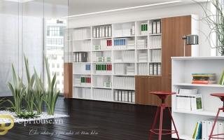 Mẫu tủ kệ hồ sơ văn phòng đẹp U26