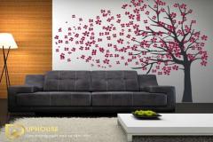 trang trí tường nhà bằng giấy màu